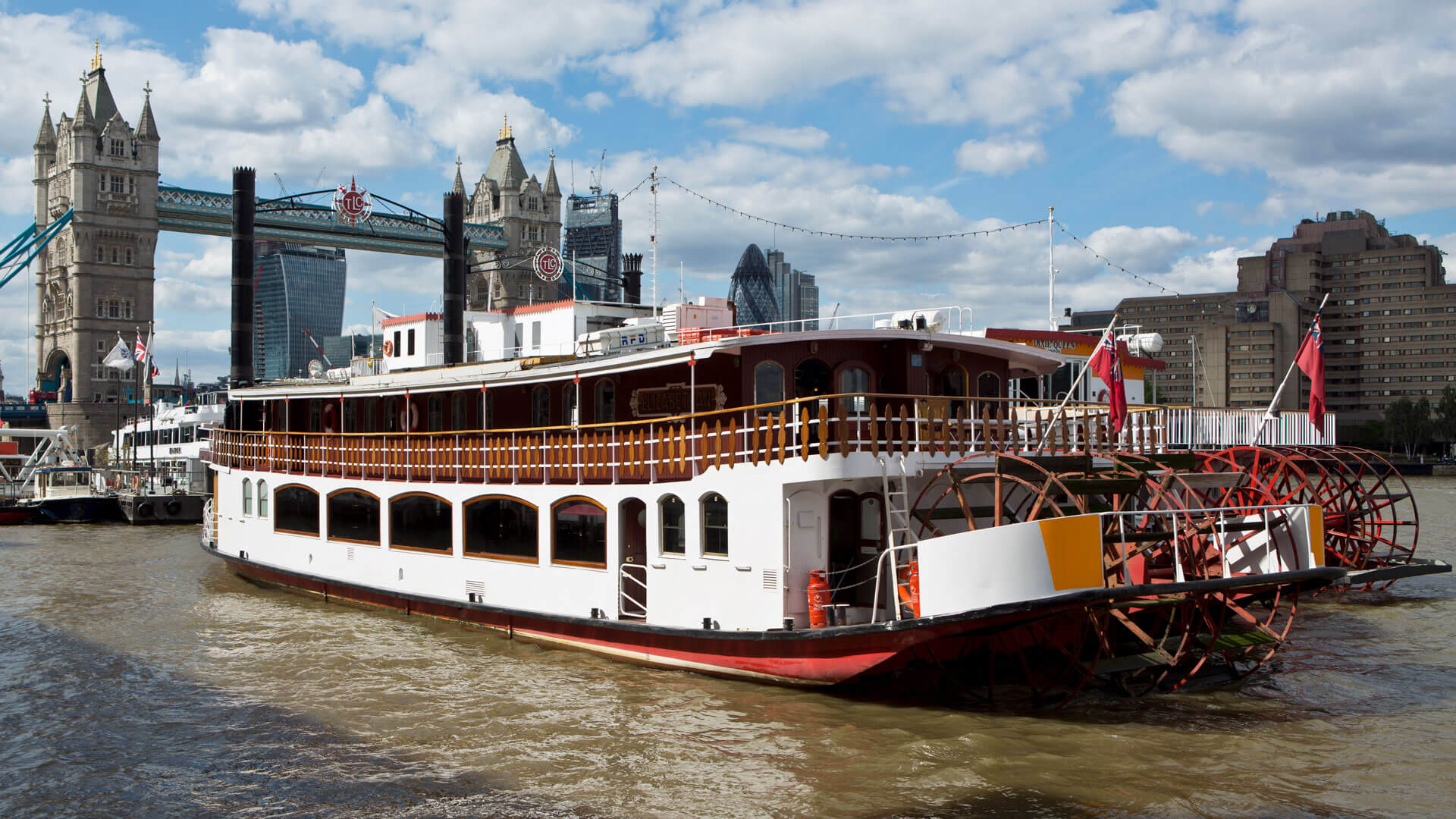 Elizabethan Paddle Steamer Fleet Thames Luxury Charters
