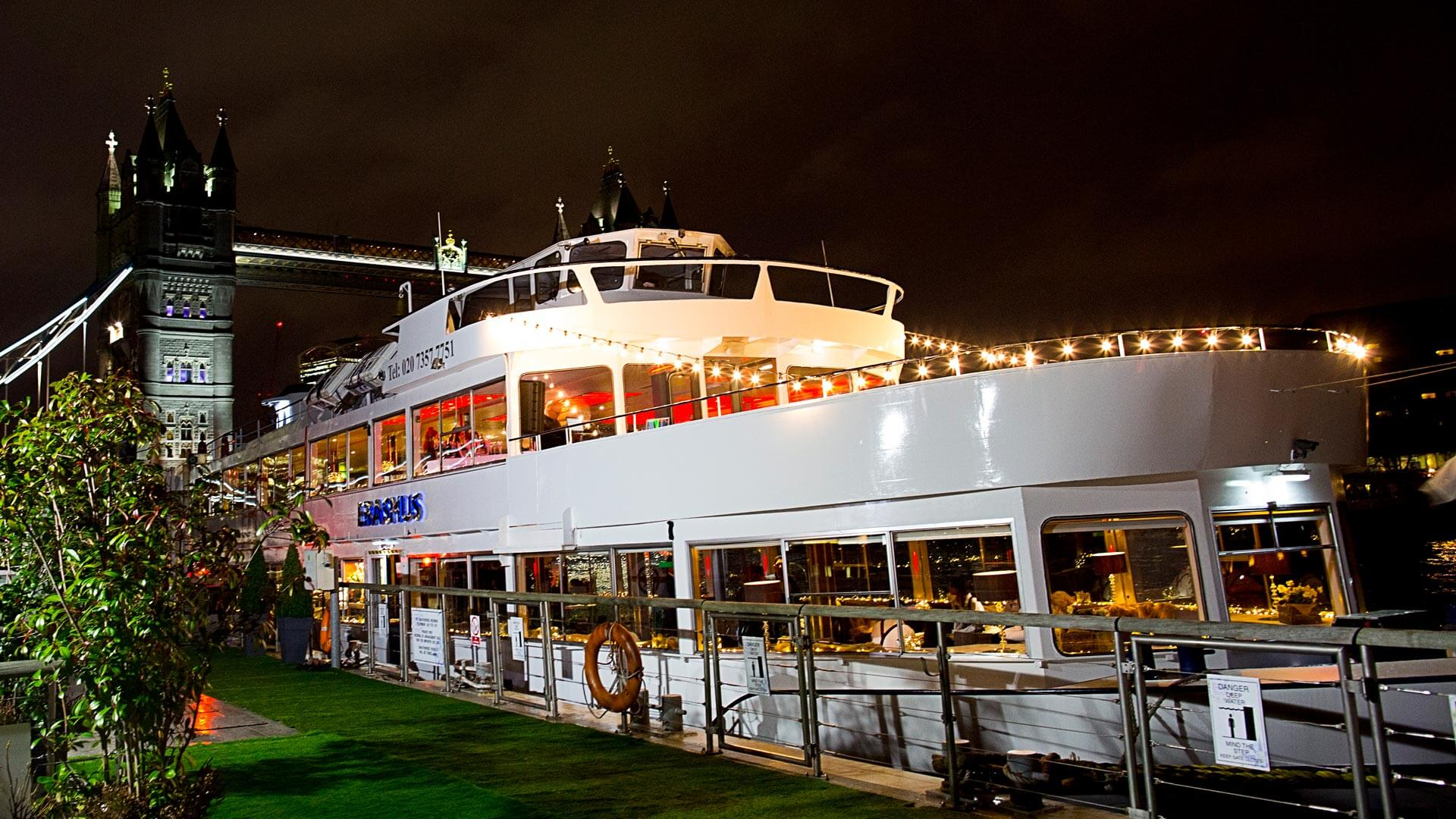 Erasmus Luxury London Party Boat Hire Fleet Thames
