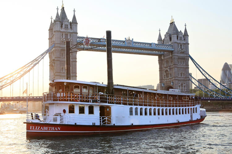 thames luxury charters elizabethan tower bridge sunset