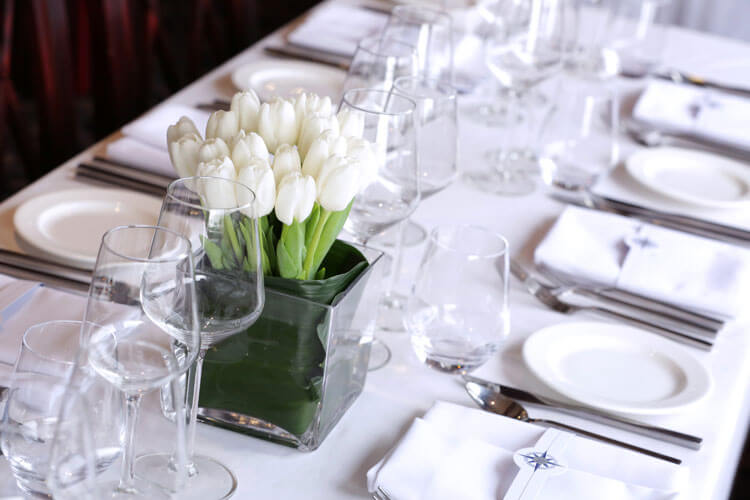thames luxury charters table setting
